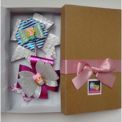 caja con moños para niñas